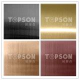 Plaque colorée décorative d'acier inoxydable de délié pour le MI projet est du marché