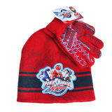 Chapéu vermelho do Beanie do jacquard (JRK080)