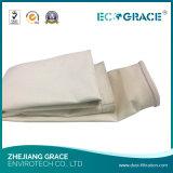 Sachet filtre de température élevée/filtration/fibre de verre d'air/pour l'usine directe d'industrie cimentière
