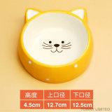 Il cane di ceramica sano sveglio di disegno di qualità lancia alimentatore del gatto