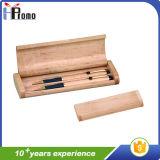 Boîte à stylo en bois avec deux stylos