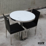 Mármol Artificial Solid Surface Coffee Table Chair Mesa de comedor