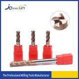 Carburo Endmill del sólido de HRC 55 para la herramienta de corte de acero