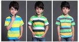 T-shirt 100% do polo do desgaste do esporte de 2017 crianças do algodão da forma