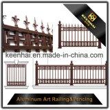 Dekoratives außenpuder beschichteter Form-Metallaluminiumgarten-Zaun