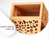 Rectángulo de regalo de madera de bambú hermoso del vino del diseño retro respetuoso del medio ambiente