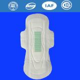 Serviettes hygiéniques respirables d'anion de coton femelle, garnitures sanitaires pour des femmes