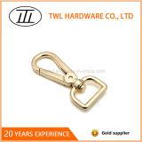Gancho de leva del broche de presión del color del oro de la luz de la aleación del cinc para el bolso