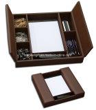 Organizador de cuero del escritorio de la PU del material de encargo de cuero de múltiples funciones de la alta calidad (LW-JB7003)