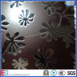 Vidro gravado ácido do vidro do vidro modelado/geada/arte/vidro decorativo
