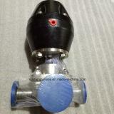 AISI316L Quergriff-Schweißens-Membranventil mit doppelter Membrane