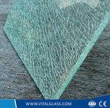 Het berijpte Gevormde Glas van de Decoratie/het Glas van de Dubbele Verglazing van de Douche/het Holle Glas van de Balustrade
