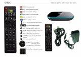 2017 nuovo arriva il contenitore Android Kodi di casella TV di memoria Q del quadrato 17.0 caselle Android completamente caricate di WiFi TV con la macchina fotografica di Skype