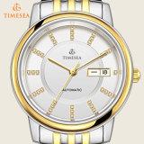 Relógios mecânicos Gold-Tone 72477 do aço inoxidável da forma dos homens