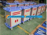 Hospital de Crash carros médicos aluminio cajones de la carretilla (GT-TA2162A)