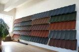 Mattonelle rivestite di pietra delle mattonelle di tetto del galvalume del chip/di tetto metallo della pietra
