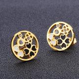 Frauen-Form-Schmucksache-Gold überzogene Ohrring-Stift-Zoll-Ohrringe