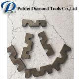 W-Form-abschleifendes Ausschnitt-Hilfsmittel-Diamant-Segment für Granit-Platte