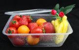 Contenitore a gettare/contenitore di plastica neri/bianchi di frutti di mare di microonda dell'articolo da cucina con il coperchio