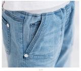 中間の上昇の印刷された子供の衣服の淡いブルーのジーンズの摩耗の男の子のデニム