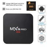 PRO 4k TV video astuto di film 4k di WiFi H. 265 di sostegno del Android 6.0 di Amlogic S905 della casella di Mxq