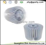 해바라기 모양 알루미늄 단면도 알루미늄은 열 싱크 또는 방열기 내밀었다