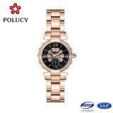 2016 de favoriete Dame van de Horloges van het Roestvrij staal van de Vrouwen van de Hoogste Kwaliteit met het Ontwerp van de Luxe