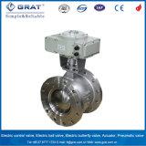 Valvola a sfera elettrica della flangia del doppio dell'acciaio inossidabile per la regolazione del vapore