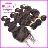 Gruppi naturali dei capelli del Virgin dell'onda peruviana non trattata superiore del corpo con chiusura