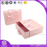 Glissière faite sur commande de papier d'emballage d'impression de logo de boîte-cadeau ouverte