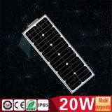20W haute énergie tout dans une lumière Integrated d'énergie solaire avec le détecteur