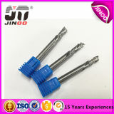 Jinoo 4mm HRC55 Solid Carbide Single Flute End Mill Cutters
