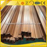 Profiel van de Uitdrijving van het Aluminium van de Korrel van de Kwaliteit van de Levering van de fabriek het Houten voor Decoratie