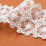 Lacet hydrosoluble de polyester de mode d'Afrian pour des vêtements
