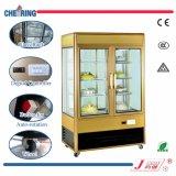 Einzelner Tür-Metallkalter Schaukasten-Kühlraum-Glasdrehkuchen-Bildschirmanzeige-Schaukasten
