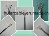 2 paires de câble de Cat5e avec les fils de pouvoir (2DC) et la jupe duelle PVC+PE