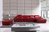 빨간색 현대 디자인 거실 가죽 소파 (HX-FZ040)