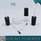 Le mini rond 5ml effacent la bouteille en verre de vernis à ongles avec le balai