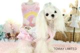 Ropa linda del animal doméstico del cordón de la flor de la alineada del algodón del perro del diseño