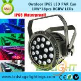 Openlucht LEIDEN Stadium Lichte 18PCS*10W RGBW 4in1 LEDs met Ce, RoHS