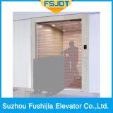 Elevador de mercadorias com proteção de cortinas de luz