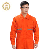 OEM 주황색 안전 조종사 작업복, 강한 폴리에스테 면 직물 항공 조종사 작업복 제복