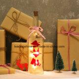 Las botellas blancas calientes LED de la luz de las estrellas encienden para arriba la botella del regalo de la luz del resplandor de la botella de vino