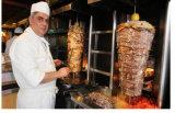 De Regelbare Elektrische Machine Sahwarma van het roestvrij staal/Kip Shawarma