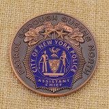 금속 도시 뉴욕 주문 경찰은 판매를 위한 동전에 도전한다