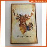Pintura del arte de los ciervos de Sika con la pintura al óleo de la lona del marco