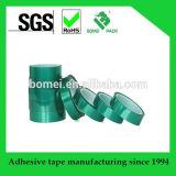 Cinta adhesiva del silicón verde material del poliester del animal doméstico