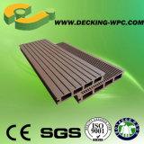 Decking de madeira do plástico WPC do preço de fábrica