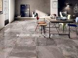 壁およびフロアーリングのための完全なボディー・セメントの艶をかけられた磁器によってガラス化される無作法なマットの床タイル(MB6086)