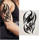 Etiquetas engomadas temporales impermeables del tatuaje de la carrocería negra del tótem